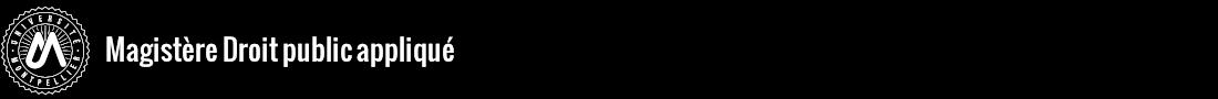 Magistère Droit public appliqué Logo